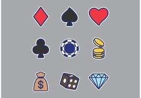 Slot Machine Sticker Vectoren