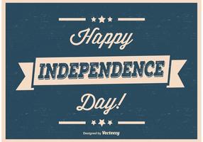 Retro Vintage Poster van de Dag van de Onafhankelijkheid vector