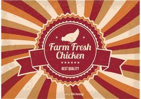 Farm Fresh Kip Illustratie vector