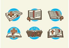 Open bible vector gratis