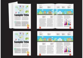Stad demografische tijdschrift layout vetor