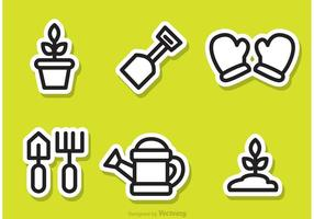 Gardening Outline Sticker Vectoren