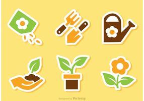 Tuinieren Sticker Vectoren