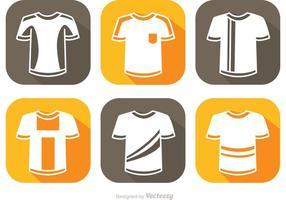 Voetbal Jersey Witte Pictogrammen Vector