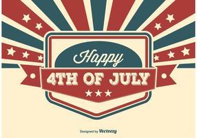 Vierde juli illustratie vector