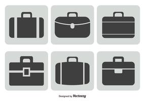 Koffer set icon set vector