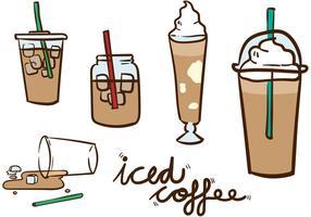Ijs koffie vector pack