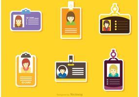 Identificatie Kaart Sticker Vector