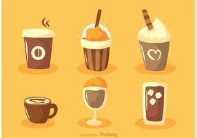 Set Van Koffievectoren vector