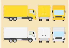 Manuele vectoren van vrachtwagens