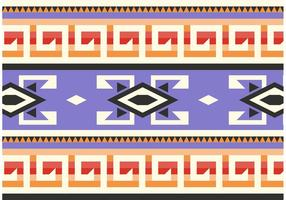 Purpere Inheemse Amerikaanse Patroon Vector