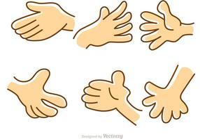 Hand cartoon set vector