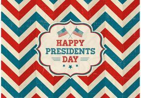 Gratis Vector Gelukkige Presidenten Dag Retro Achtergrond