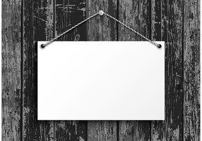 Gratis Hangende Blanco Papierplaat Vector