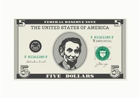 Gratis 5 Dollar Bill Vector