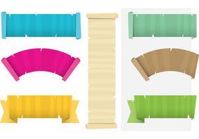 Kleurrijke Papyrus Scrolled Paper Vectors
