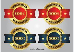 Gouden Promotie Badges vector