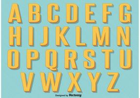 Retro Vintage Alfabet vector