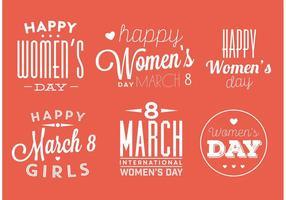 Vrouwen Day Badge Vectoren