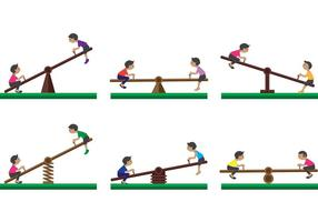 Zie zaagvectoren met kinderen vector