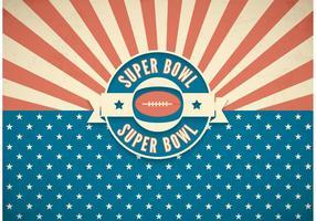 Gratis Super Bowl Retro Vector Achtergrond