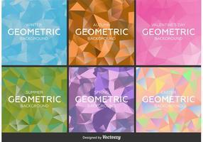 Geometrische en veelhoekige achtergronden vector