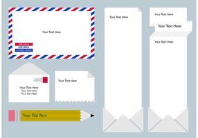 Post Text Box Templates vector
