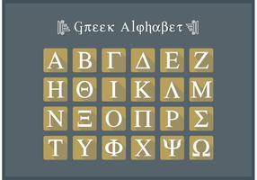 Griekse Alfabet Flat Icon Letters Vector Gratis