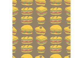 Gratis Club Sandwich Naadloze Patroon Vector