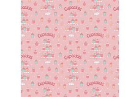 Gratis Cupcake Tribune Naadloze Patroon Vector