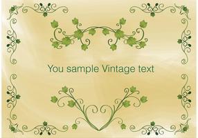 Vintage klimop frame vector