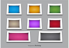 3D Shelves en Frame Vectors