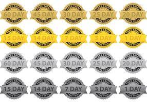 Gratis Trial Badge Vectoren