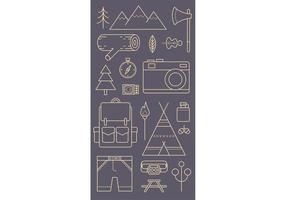 Camping patroon vector