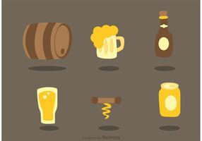 Set Van Alcohol Pictogrammen Vectoren