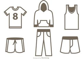 Set Sport Jersey Icons Vector