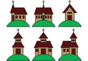 Land kerkvectoren vector