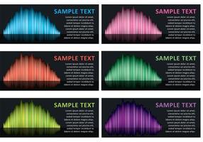 Noordelijke Lichten Banner Vectoren