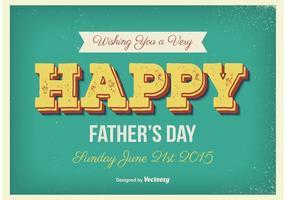 Het vintage Poster van de Vaderdag