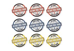 30 dagen gratis proefzegels vector gratis