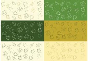 Gratis Vector Blad Patroon Set