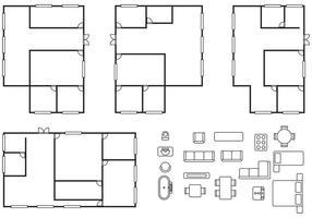 Architectuurplanvectoren vector
