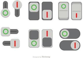 Schakel de knop van de knop uit vector