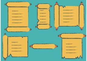 Gratis Scrolled Paper Vector Art