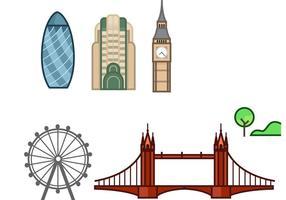 Londen stroke art vector