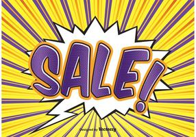 Comic Style Sale Achtergrond Illustratie