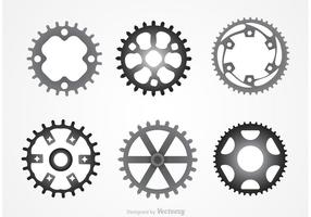 Metalen Bike Sprockets Vectors