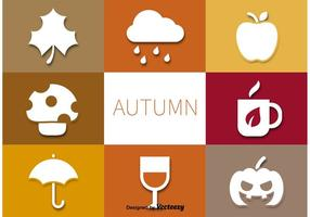 Herfst Vector Pictogrammen Set