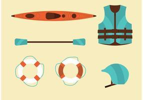 River rafting vector set