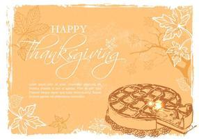 Gratis Gelukkige Thanksgiving Vector Illustratie
